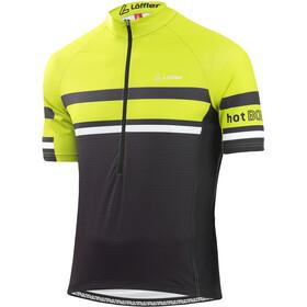 Löffler hotBOND RF Fietsshirt Halve Rits Heren, black/light green